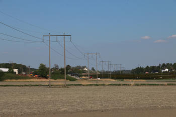 132 kV-ledning med tremaster