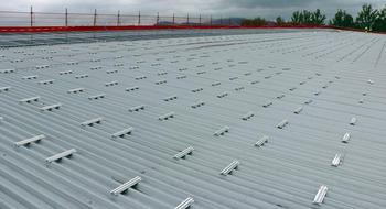 Solcellemontering på Skagerak Arena