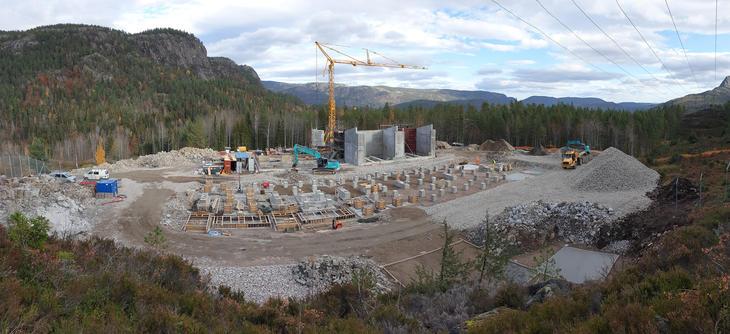 Anleggsområdet Tørdal transformatorstasjon