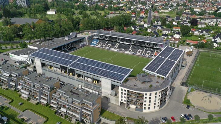 Oversiktsbilde på Skagerak Arena